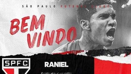 Raniel assinou contrato válido até 30 de junho de 2024