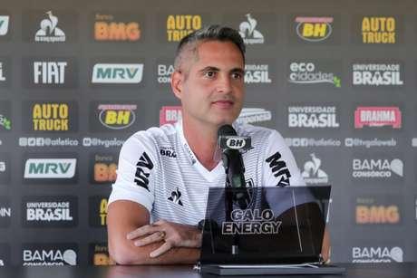 Rodrigo terá duas atividades com o grupo neste sábado, na Cidade do Galo, contra o América-MG e Coimbra, em jogos -treinos-(Bruno Cantini/Atlético-MG)