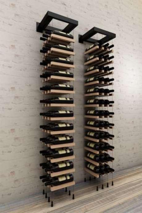52. Adega de vinho para ambientes pequenos – Por: Pinterest