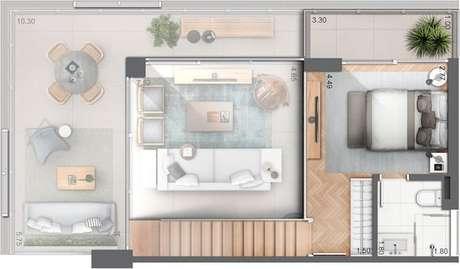 2. Muitas ideias se enquadram nas plantas de casas modernas. Imagem: Huma