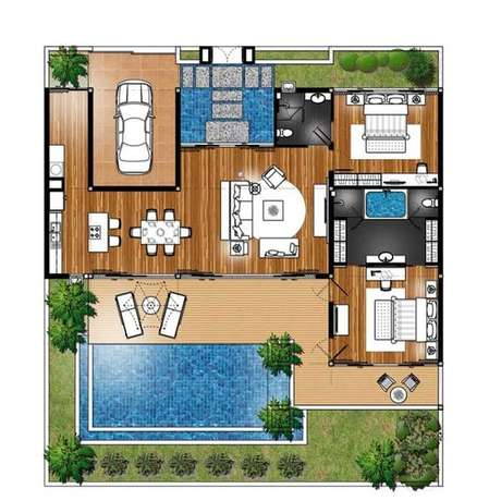 17. O conceito aberto pode ser aplicado em todo o imóvel nas plantas de casas modernas. Imagem: Decor Fácil