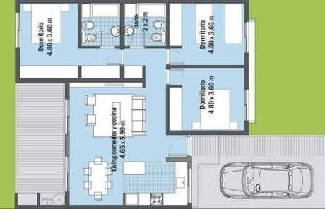 33. A estrutura de plantas de casas modernas podem ter cômodos espelhados. Imagem: Seleciones Especiales