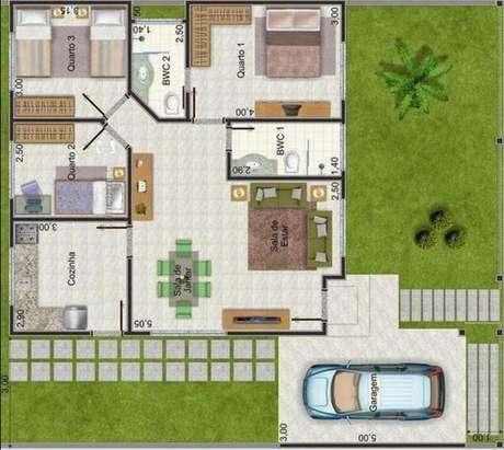 36. A área verde das plantas de casas modernas podem ser muito grandes.Imagem: Só Decor