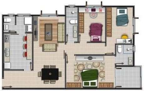 5. As plantas de casas modernas com três quartos são boas pois sobra espaço. Imagem: Viva Decora