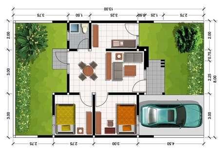 45. Os quartos espelhados de plantas de casas modernas são ótimos para otimizar espaço. Imagem: Decor Fácil