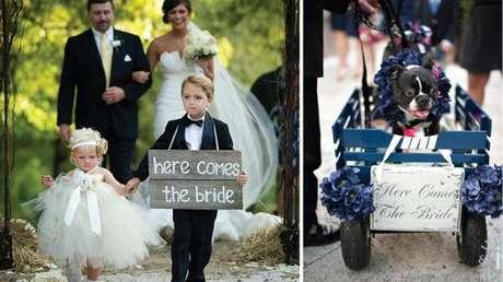 62. Plaquinhas de casamento criativas para decoração a entrada da noiva. Fonte: Pinterest