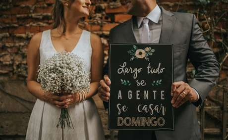 65. Plaquinhas de casamento criativas para o grande dia. Fonte: Dicas de Mulher