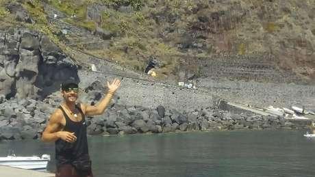 Thiago Takeuti perdeu o amigo italiano, Massimo Imbasi, que morreu após a erupção, ocorrida no dia 4 de julho