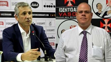 Campello e Monteiro já foram aliados, mas estão em lados opostos (Paulo Fernandes/Vasco.com.br e Divulgação)