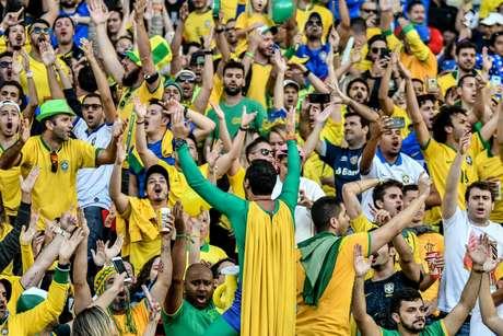 Torcida durante partida entre Brasil x Peru, válida pela final da Copa América 2019