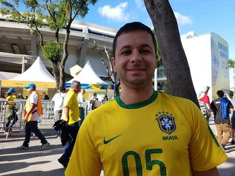O empresário Fabiano Bemvenuti, de Nova Friburgo-RJ, acha que Tite tem de manter a sequência do trabalho na Seleção