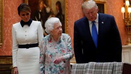 Segundo Trump, na visita que fez ao Reino Unido, quem mais o 'impressionou' foi a rainha