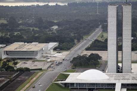 Imagem do Palácio do Planalte do Congresso Nacional. 18/4/2013. REUTERS/Ueslei Marcelino