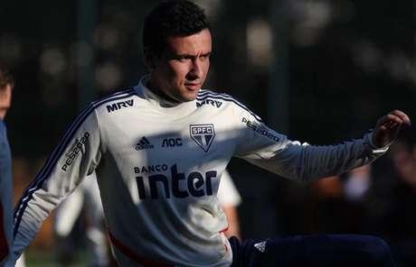 Pablo tem treinado como titular e deve iniciar o clássico de sábado, contra o Palmeiras (Rubens Chiri/saopaulofc.net)