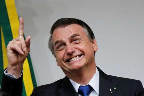 Presidente Jair Bolsonaro durante evento no Congresso Nacional