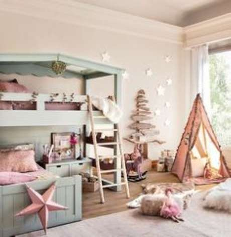 17. Beliche infantil em quarto com decoração lúdica – Por: Pinterest
