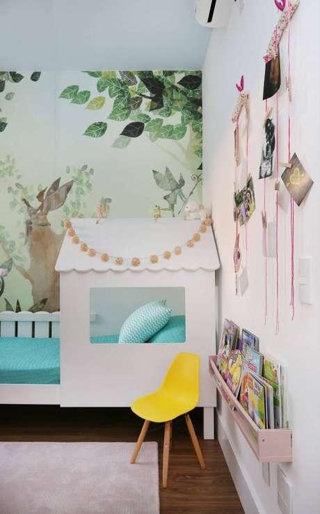 21. Cama infantil estilo casinha para quarto personalizado – Por: By Arquitetura