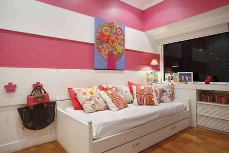 12. Cama infantil com bicama para decorar quarto de menina – Por: Brise Arquitetura