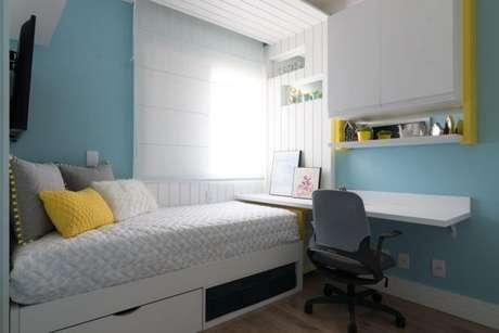 42. Cama infantil para quarto neutro e clean – Por: Danyela Correa