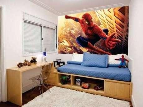 29. Cama infantil para quarto temático do homem aranha – Por: Revista Viva Decora