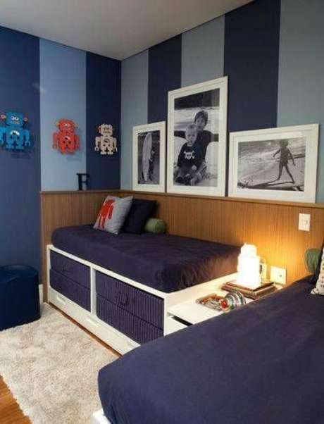 43. Cama infantil para quarto de menino – Por: Revista VD