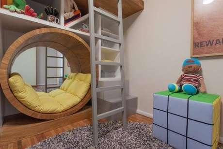 54. Cama infantil para quarto de brinquedos – Por: SessoeDalanezi