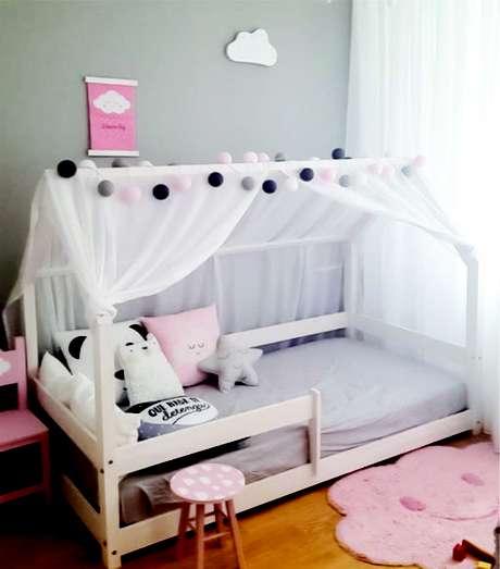 60. Cama infantil montessoriana – Por: Pinterest