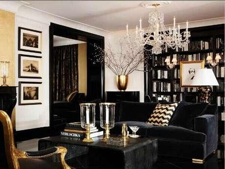 4. Inclua o dourado em pequenos itens presentes na sala de estar. Fonte: Pinterest