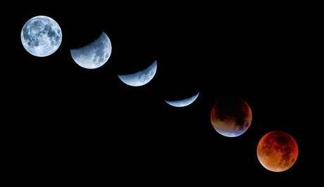 Sequência de eclipse lunar e Super Lua setembro de 2015