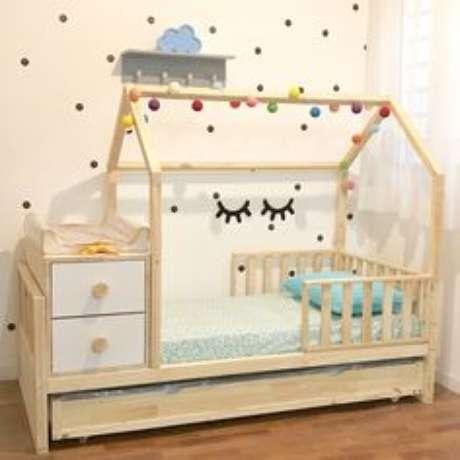 63. Cama infantil casinha para quartos delicados e lindos – Por: Pinterest