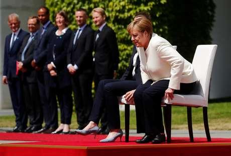 Chanceler alemã, Angela Merkel, durante recepção à premiê da Dinamarca, Mette Frederiksen, em Berlim 11/07/2019 REUTERS/Hannibal Hanschke