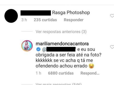 Marilia Mendonça responde fã que a acusou de usar Photoshop na foto
