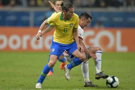 Filipe Luís foi campeão da Copa América pela Seleção Brasileira (Foto: Raul Arboleda / AFP)