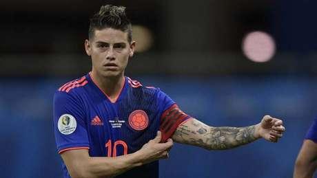 James esteve no Brasil para a Copa América (Foto: AFP)
