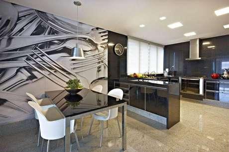 35. Piso de azulejos de granilite é extremamente fácil de limpar. Projeto por Gislene Lopes