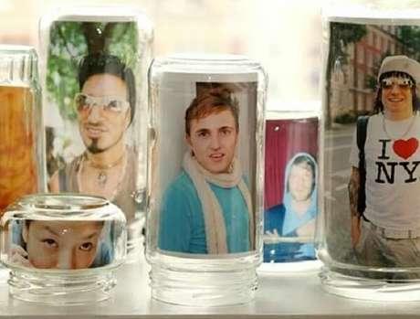 8. Vidros decorados com fotografia. Fonte: Pinterest