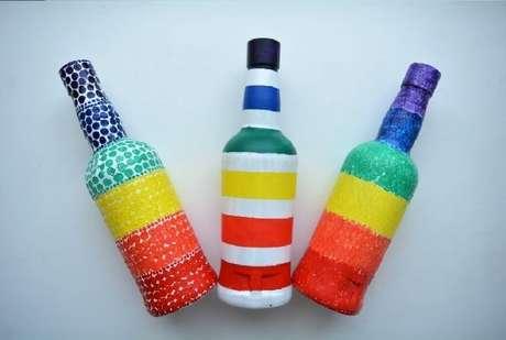 14. Diferentes formas de criar vidros decorados. Fonte: Pinterest