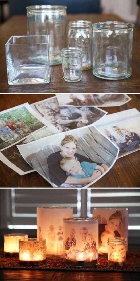 48. Como decorar vidros com fotografia. Fonte: Pinterest