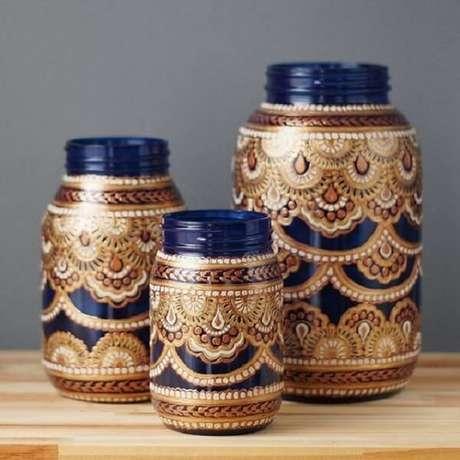63. Potes de geleia se transformam com essa decoração marroquina. Fonte: Casa da Cris