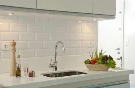 71- O revestimento para cozinha deve ser prático para o dia a dia. Fonte:Transforme Sua casa