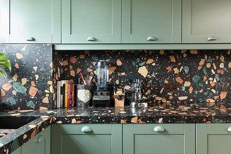 8. Revestimento para cozinha com granilite. Fonte: Pinterest