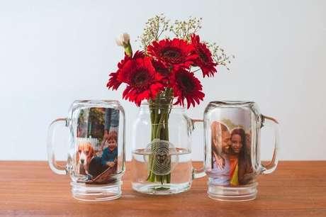 39. Vidros decorados com fotografia. Fonte: Pinterest