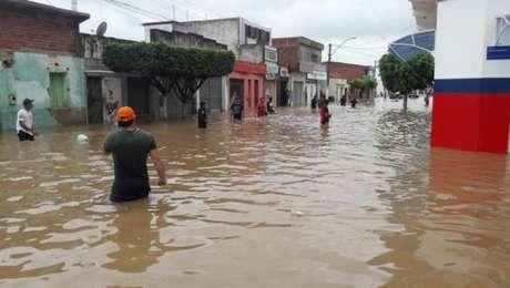 Água atingiu o município vizinho Coronel João Sá