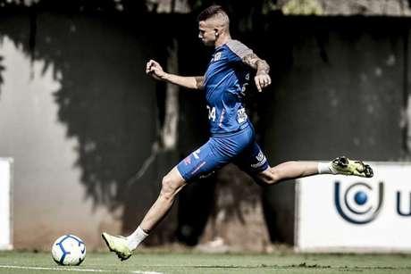 Jobson sofreu uma entorse no duelo contra o Bahia, pelo Brasileiro de Aspirantes (Ivan Storti/Santos)