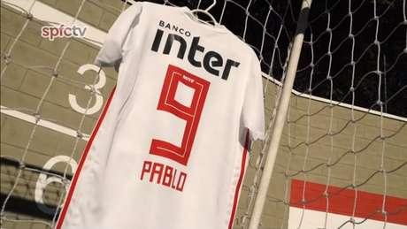 Pablo passa a utilizar a mágica camisa 9 do Tricolor e quer manter a tradição artilheira (Foto: Reprodução/SPFCTV)