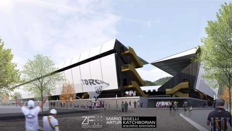 Se o projeto for aprovado, Vila Belmiro tomaria esta forma (Reprodução/Twitter)
