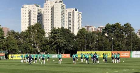 Treino do Palmeiras nesta sexta-feira, na Academia de Futebol (Foto: Thiago Ferri)