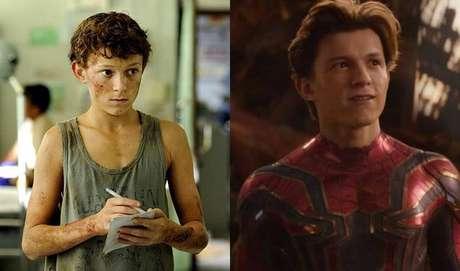 Tom Holland também foi um dos atores que começaram muito jovens. Ainda quando criança, ficou conhecido por atuar no filme de sucesso