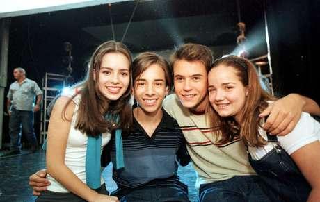 Sandy, Júnior, Paulo Vilhena e Tatiana Goulart gravam especial de fim de ano para a Rede Globo no Clube Fonte São Paulo, em Campinas.