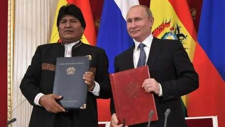 Evo Morales fez uma visita diplomática a Moscou nesta semana